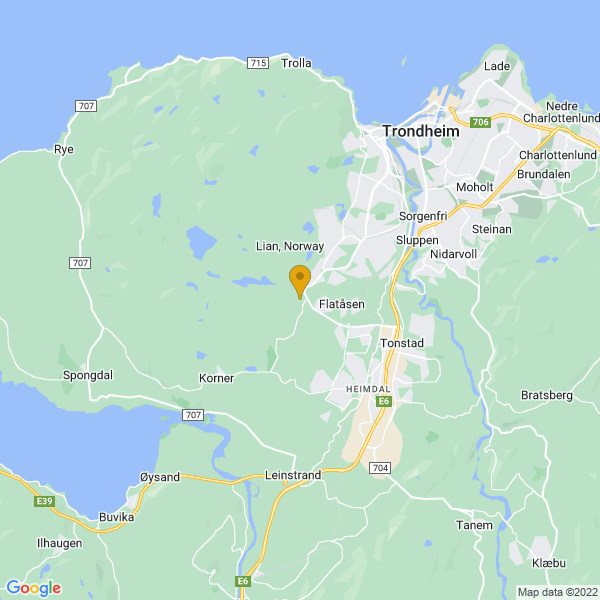 Google Map of 63.3785112,10.312277