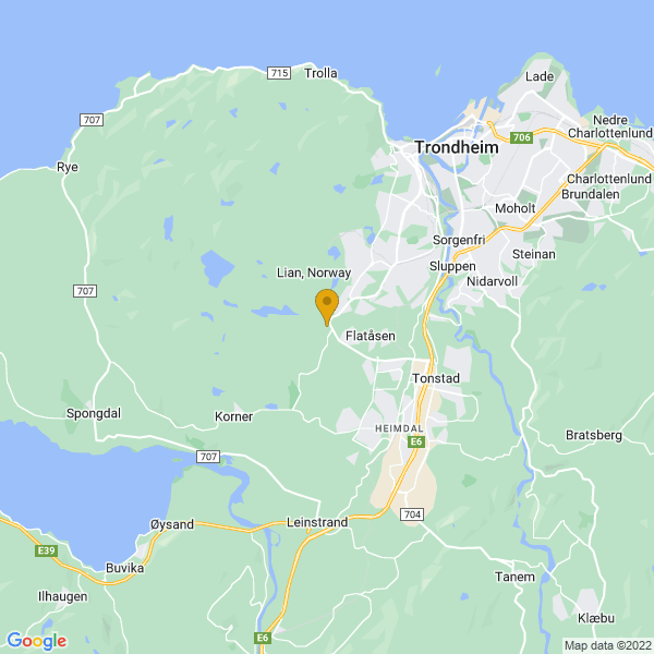 Google Map of 63.3797272,10.3131947