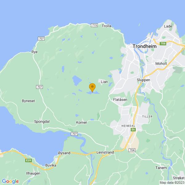 Google Map of 63.38457359999999,10.2790716