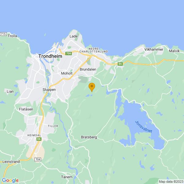 Google Map of 63.39449839999999,10.4885092
