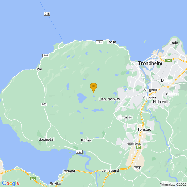Google Map of 63.4008225,10.270338