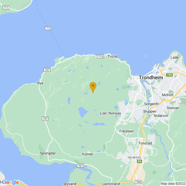 Google Map of 63.4150408,10.2668846