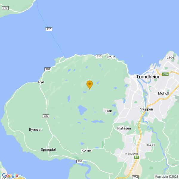 Google Map of 63.4174951,10.261402