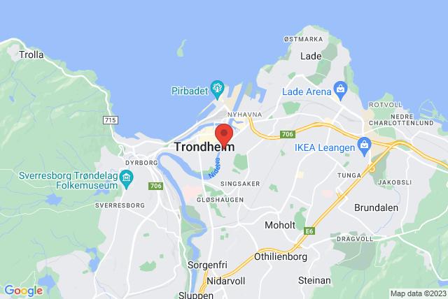 Pilates Trondheim AS Map
