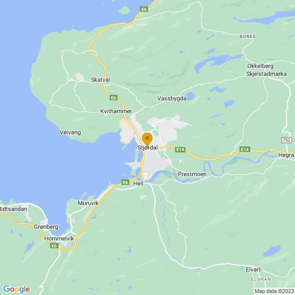 Google Map of 63.46779719999999,10.917596