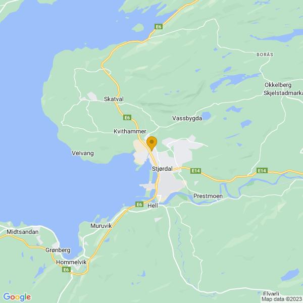 Google Map of 63.47805320000001,10.9035842