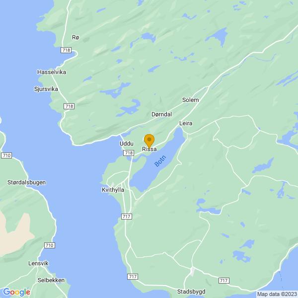 Google Map of 63.5843538,9.959329499999999