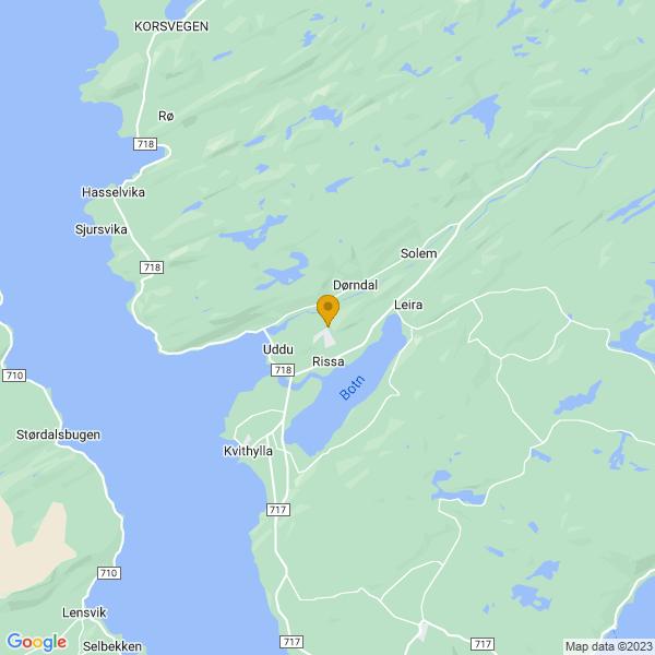 Google Map of 63.5937786,9.959438999999998