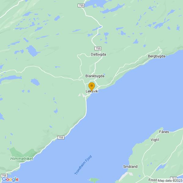 Google Map of 63.6722463,10.6206683