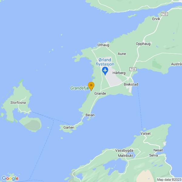 Google Map of 63.679384103870525,9.571998519268261