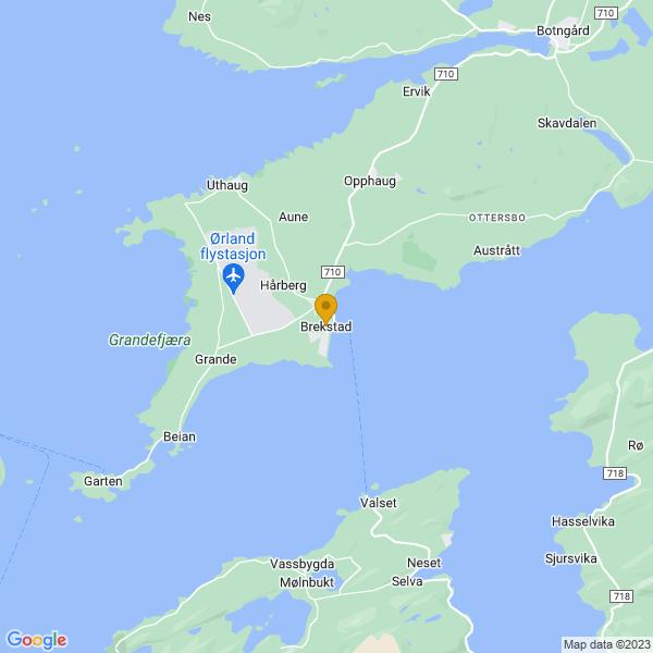 Google Map of 63.6862525,9.6623489
