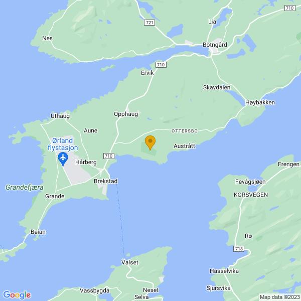 Google Map of 63.7048392,9.7232528