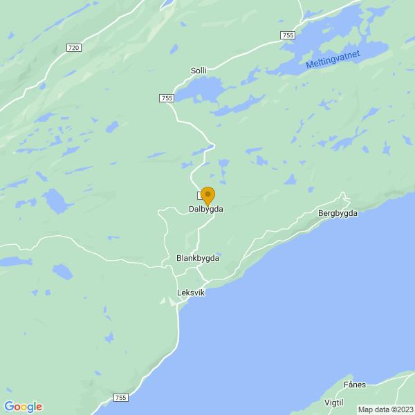 Google Map of 63.709982,10.6376282