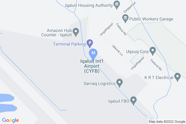 Map of Iqaluit Airport