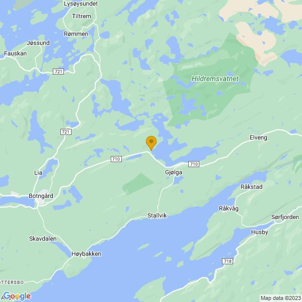 Google Map of 63.79590927687022,9.962060942456157