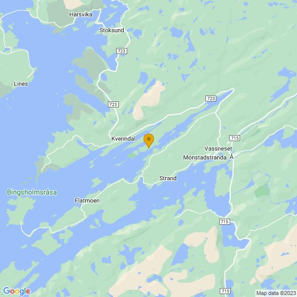 Google Map of 63.96582186948798,10.109542677434948
