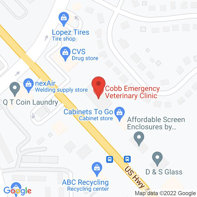 Google Map of 630 Cobb Parkway N, Marietta, GA, 30062