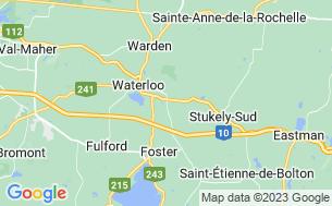 Map of Camping De L'estrie