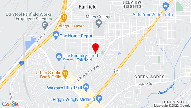 Google Map of 6301 Myron Massey Blvd, Fairfield, AL 35064