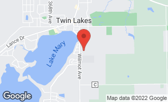 Map of 631 Hickory Road TWIN LAKES, WI 53181