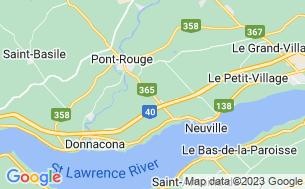Map of Camping De La Rivière Aux Pommes