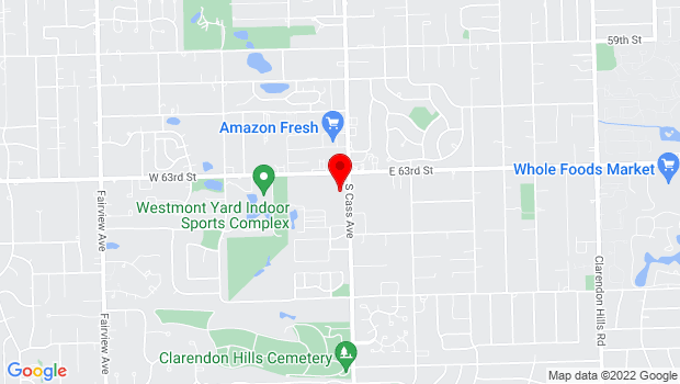 Google Map of 6326 Cass Ave, Westmont, IL 60559