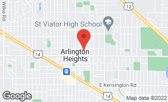 Map of 633 North Belmont Avenue ARLINGTON HEIGHTS, IL 60004