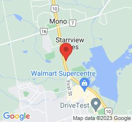 Google Map of 633201+Hwy+10+North%2CMono%2COntario+L9W+5N9