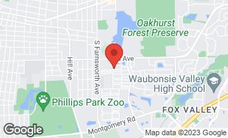 Map of 634 Four Seasons Boulevard AURORA, IL 60504