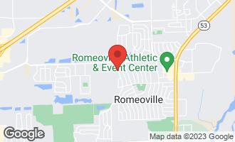 Map of 634 Montrose Drive ROMEOVILLE, IL 60446