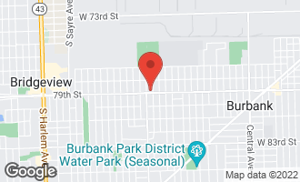 Map of 6340 West 79th Street 2ND BURBANK, IL 60459