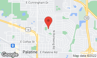 Map of 635 East Meadow Lane PALATINE, IL 60074