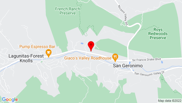 Google Map of 6350 Sir Francis Drake Blvd, San Geronimo, CA 94963