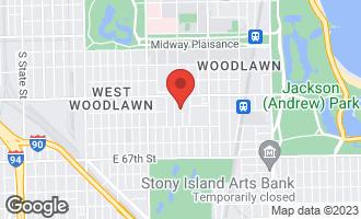 Map of 6352 South Ellis Avenue 2N CHICAGO, IL 60637