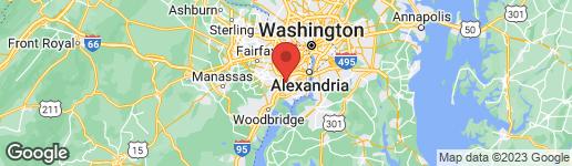 Map of 6365 SILVER RIDGE CIRCLE ALEXANDRIA, VA 22315