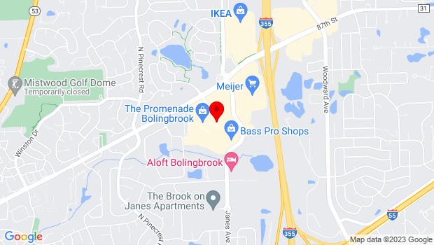 Google Map of 639 E. Boughton Road, Suite 100, Bolingbrook, IL 60440