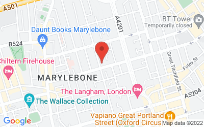 Map of 1) London