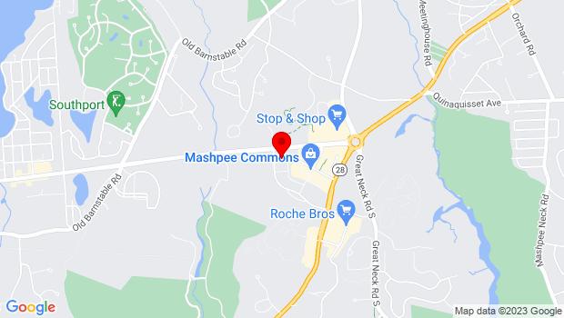 Google Map of 64 Steeple St., Mashpee, MA 02649