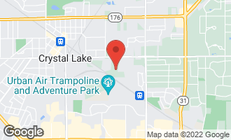 Map of 64 Kent Avenue CRYSTAL LAKE, IL 60014