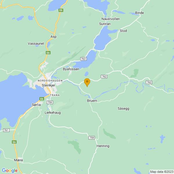 Google Map of 64.0131813,11.5867306