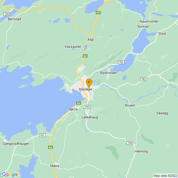 Google Map of 64.0155188,11.5034959