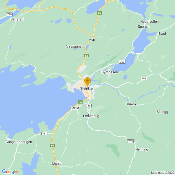 Google Map of 64.01610667491771,11.496307614924266