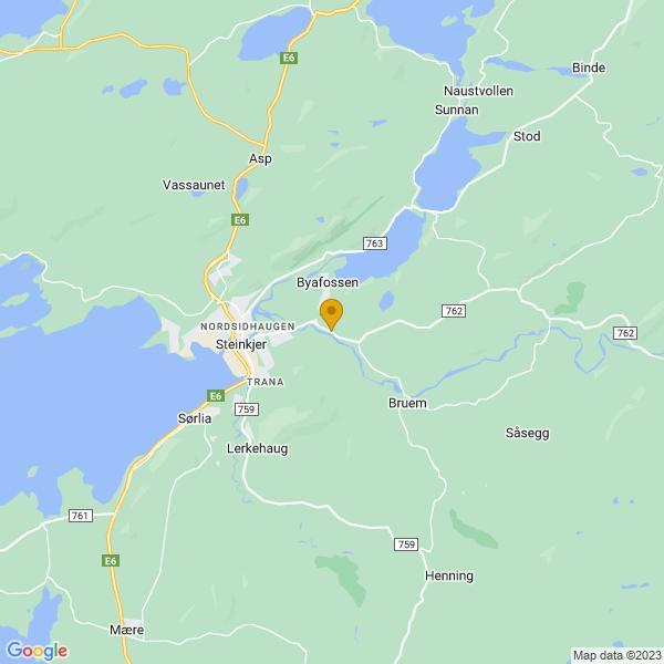 Google Map of 64.01834,11.551252