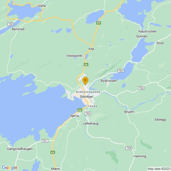 Google Map of 64.0267767,11.4929535
