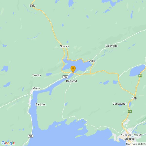 Google Map of 64.09611369805988,11.334671974182129