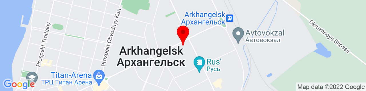 Google Map of 64.54725069999999, 40.56015530000002