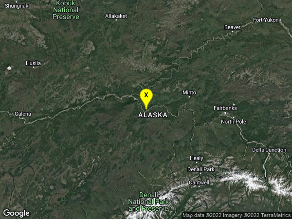 earthquake 33 km WSW of Manley Hot Springs, Alaska