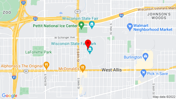 Google Map of 640 S. 84th St., West Allis, WI 53214