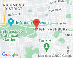 Google Map of 640 Stanyan Street, San Francisco< CA 94117
