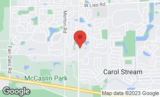 Map of 640 Topeka Court CAROL STREAM, IL 60188